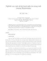 Nghiên cứu một số kỹ thuật giấu tin trong môi trường multimedia