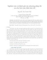 Nghiên cứu và đánh giá các phương pháp tối ưu cho bài toán điện tâm đồ