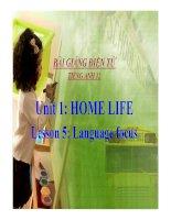 Bài giảng tiếng anh 12 unit 1 home life