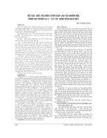 KẾT QUẢ điều TRỊ bướu TUYẾN GIÁP LAN tỏa NHIỄM độc BẰNG IOD PHÓNG xạ (i   131) tại BỆNH VIỆN BẠCH MAI