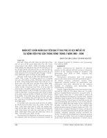NHẬN xét CHẨN đoán RAU TIỀN đạo ở THAI PHỤ có sẹo mổ đẻ cũ tại BỆNH VIỆN PHỤ sản TRUNG UƠNG TRONG 2 năm 2008   2009