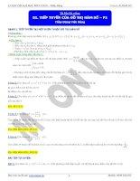 Chuyên đề câu hỏi phụ khảo sát hàm số