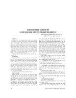 NGHIÊN cứu NHIỄM KHUẨN vết mổ tại các KHOA NGOẠI BỆNH VIỆN TỈNH NINH BÌNH năm 2010