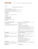 Giáo án ngữ văn 6 bài 34 tổng kết phần tiếng việt