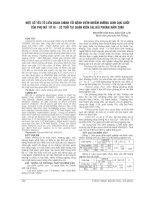 MỘT số yếu tố LIÊN QUAN CHÍNH tới BỆNH VIÊM NHIỄM ĐƯỜNG SINH dục dưới của PHỤ nữ từ 18 – 52 TUỔI tại QUẬN KIẾN AN, hải PHÒNG năm 2009