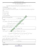 Chuyên đề tích phân Quyển 1