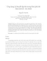 Ứng dụng lý thuyết tập tho trong khai phá dữ liệu kinh tế   tài chính