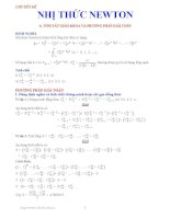 Chuyên đề nhị thức Niu tơn (lời giải chi tiết)