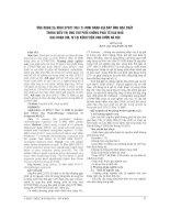 ỨNG DỤNG xạ HÌNH SPECT 99m tc MIBI ĐÁNH GIÁ đáp ỨNG HOÁ CHẤT TRONG điều TRỊ UNG THƯ PHỔI KHÔNG PHẢI tế bào NHỎ GIAI đoạn IIIB, IV tại BỆNH VIỆN UNG bướu hà nội