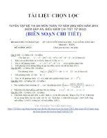 TUYỂN tập đề THI đh môn TOÁN từ năm 2002 đến năm 2010 (kèm đáp án, BIỂU điểm CHI TIẾT từ BGD)
