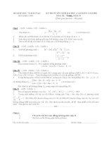 Đề thi đại học và đáp án môn toán khối D từ năm 2002 - 2014