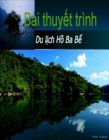 Bài thuyết trình DU LỊCH hồ BA bể