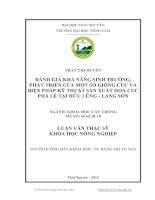 Đánh giá khả năng sinh trưởng, phát triển của một số giống cúc và biện pháp kỹ thuật sản xuất hoa cúc Pha Lê tại Hữu Lũng - Lạng Sơn