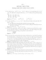 Bài tập vật lý 11 có đáp án