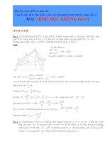 Tổng hợp các bài toán thể tích trong các đề thi thử đại học