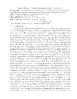 Trang thông tin về đóng góp mới của luận án nghiên cứu đặc điểm nông sinh học và biện pháp kỹ thuật trồng, chăm sóc hoa lan đai châu (rhynchostylis gigantea (lindley) ridley) ở miền bắc việt nam