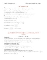 Tài liệu chuyên đề hàm số và các bài toán liên quan (phân dạng hay nhất)