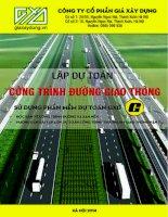 Lập dự toán công trình đường giao thông