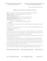 THÔNG TIN VỀ ĐIỂM MỚI LUẬN ÁN TIẾN SĨ KINH TẾ TRẦN VĂN TRÍ(Tiếng Việt)