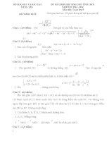 Đề thi học sinh giỏi môn toán 9 tỉnh hưng yên năm học 2013  2014(có đáp án)