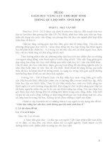 SKKN GIÁO dục NĂNG lực CHO học SINH THÔNG QUA bộ môn SINH học 8