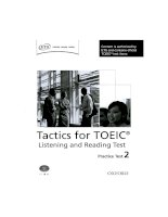Tactics for TOEIC listening and reading test practice test 2
