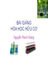Bài giảng hóa học bài mở đầu