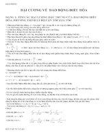 Phương pháp giải các dạng bài tập dao động điều hòa có bài tập vận dụng