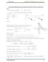 Chuyên đề khảo sát hàm số (Cù Đức Hoà)