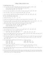Bài tập: Tổng và hiệu của hai vecto rất hay(Hình học 10 - Chương I: Vecto)