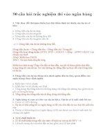 90 câu hỏi trắc nghiệm thi vào ngân hàng