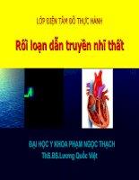 ECG rối loạn dẫn truyền nhĩ thất