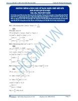 Một số bài tập về phương trình lượng giác môn toán 11 có đáp án