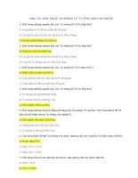 100 câu hỏi thi hết môn Tư Tưởng Hồ Chí Minh hay