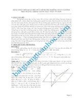 Khai thác mối liện hệ giữa hình học phẳng và hình học không gian trong giải toán THPT