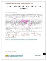 Đề thi IELTS writing thật tháng 8 12 năm 2008 2013
