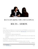 IELTS SPEAKING  TIPS AND SAMPLES