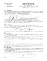 Đề thi học sinh giỏi môn hóa học lớp 9 ( kèm đáp án chi tiết)