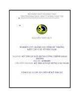 Phân tích đánh giá tính dư trong kết cấu cầu ở việt nam