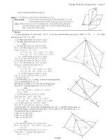 Các bài tập hình học không gian lớp 11 có đáp án chi tiết