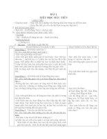 Giáo án Toán 1 chương 1 bài 1: Tiết học đầu tiên