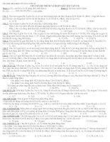 Tài liệu hóa học vô cơ 12  Lớp A1: Chuyên đề nhôm và hợp chất bài tập (N1