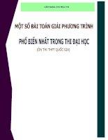 Chuyên đề phương trình ôn thi THPT quốc gia (có lời giải chi tiết)