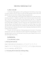 Sáng kiến kinh ngiệm: Các dạng toán liên quan đến phương trình mặt cầu
