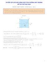 Tuyển chọn 30 bài tập phương pháp tọa độ trong mặt phẳng hay có đáp án chi tiết