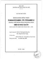Định lượng đồng thời paracetamol và vitamin c trong chế phẩm bằng phương pháp điện di mao quản