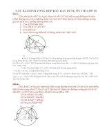 Các bài hình tổng hợp rất hay ôn thi vào lớp 10 có đáp án chi tiết