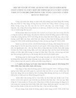 MỘT SỐ VẤN ĐỀ VỀ VIỆC ÁP DỤNG TIÊU CHUẨN KIỂM ĐỊNH CHẤT LƯỢNG VÀ THỰC HIỆN HỆ THỐNG QUẢN LÝ CHẤT LƯỢNG THEO TCVN ISO 9001 2008 TRONG VIỆC NÂNG CAO CHẤT LƯỢNG QUẢN LÝ ĐÀO TẠO