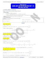 Chuyên đề luyện thi đại học khảo sát và vẽ đồ thị hàm số