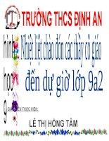 Bài giảng điện tử tham khảo hình học 9 bài một số hệ thức về cạnh và góc trong tam giác vuông (16)